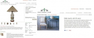 MAXWELL'S A FEATURED ONE KINGS LANE DESIGNER